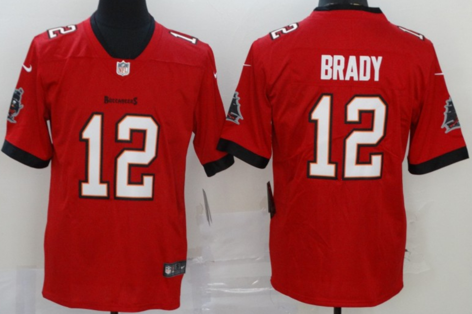 Men's Tampa Bay Buccaneers #12 Tom Brady Red 2020 Vapor Limited Stitched NFL Nike Jersey
