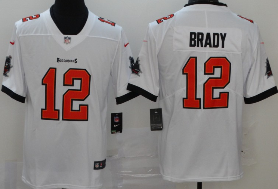 Men's Tampa Bay Buccaneers #12 Tom Brady White 2020 Vapor Limited Stitched NFL Nike Jersey