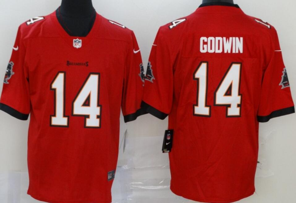 Men's Tampa Bay Buccaneers #14 Chris Godwin Red 2020 Vapor Limited Stitched NFL Nike Jersey