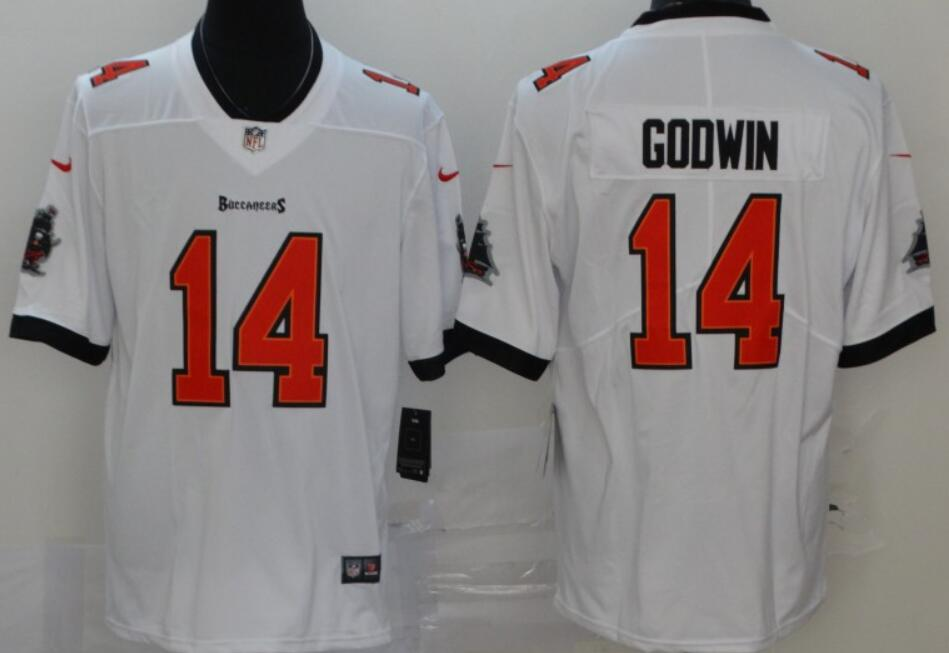 Men's Tampa Bay Buccaneers #14 Chris Godwin White 2020 Vapor Limited Stitched NFL Nike Jersey