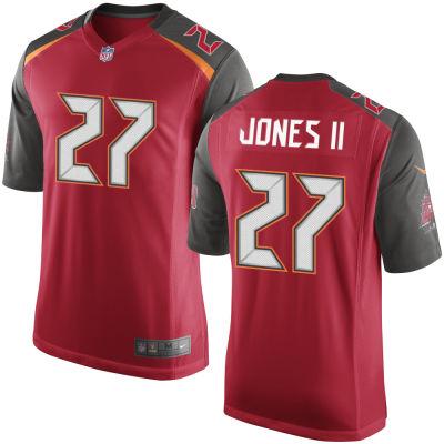 Men's Tampa Bay Buccaneers #27 Ronald Jones II Red Team Color Stitched NFL Nike Game Jersey