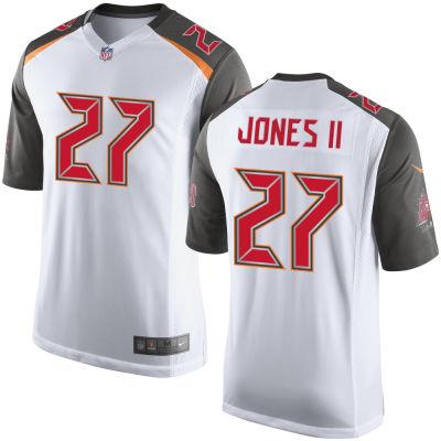 Men's Tampa Bay Buccaneers #27 Ronald Jones II White Road Stitched NFL Nike Game Jersey