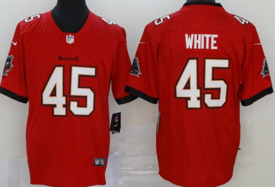 Men's Tampa Bay Buccaneers #45 Devin White Red 2020 Vapor Limited Stitched NFL Nike Jersey