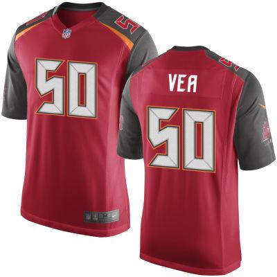 Men's Tampa Bay Buccaneers #50 Vita Vea Red Team Color Stitched NFL Nike Game Jersey
