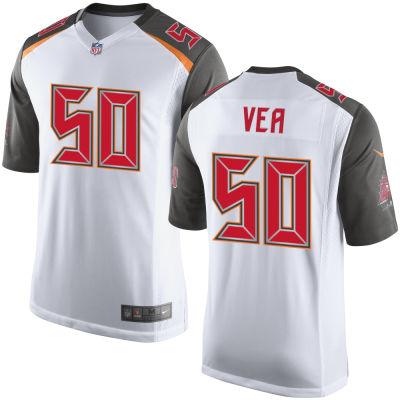 Men's Tampa Bay Buccaneers #50 Vita Vea White Road Stitched NFL Nike Game Jersey