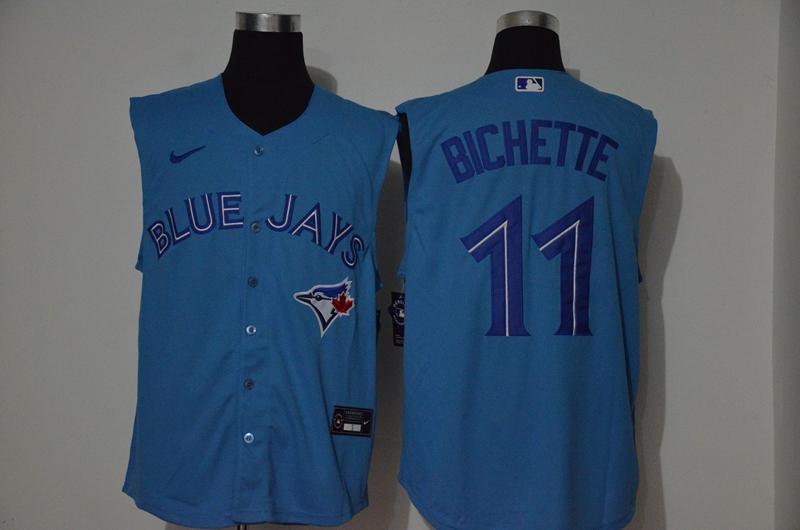 Men's Toronto Blue Jays #11 Bo Bichette Blue 2020 Cool and Refreshing Sleeveless Fan Stitched MLB Nike Jersey