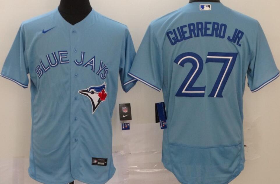 Men's Toronto Blue Jays #27 Vladimir Guerrero Jr. Blue Stitched MLB Flex Base Nike Jersey