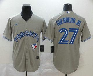 Men's Toronto Blue Jays #27 Vladimir Guerrero Jr. Gray Stitched MLB Cool Base Nike Jersey