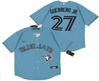 Men's Toronto Blue Jays #27 Vladimir Guerrero Jr. Light Blue Stitched MLB Cool Base Nike Jersey