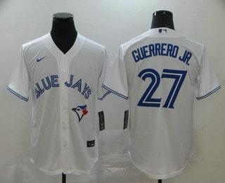 Men's Toronto Blue Jays #27 Vladimir Guerrero Jr. White Stitched MLB Cool Base Nike Jersey