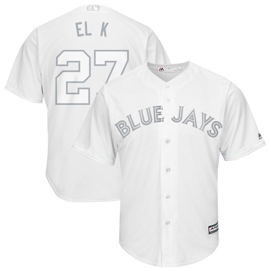 Men's Toronto Blue Jays 27 Vladimir Guerrero Jr. El K White 2019 Players' Weekend Player Jersey