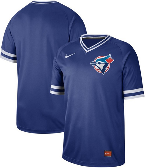 Men's Toronto Blue Jays Blank Royal Authentic Cooperstown Collection Stitched Baseball Jersey
