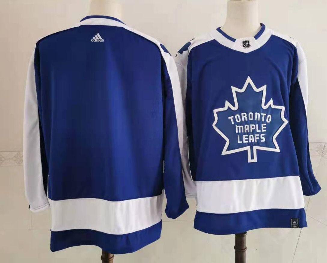 Men's Toronto Maple Leafs Blank Royal Blue 2021 Retro Stitched NHL Jersey