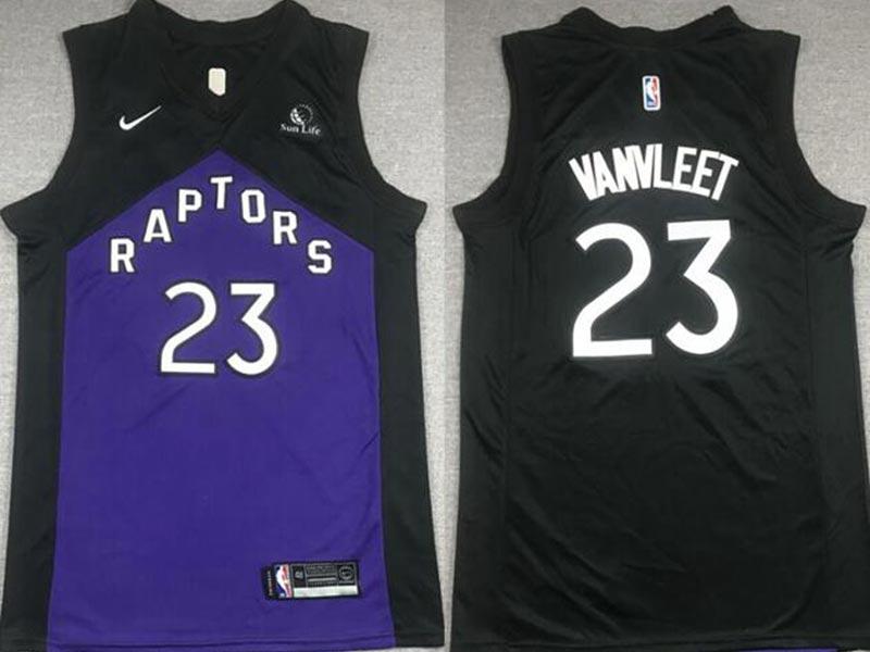 Men's Toronto Raptors #23 Fred Vanvleet 2021 Purple and Black Earned Edition Nike Swingman Basketball Jersey