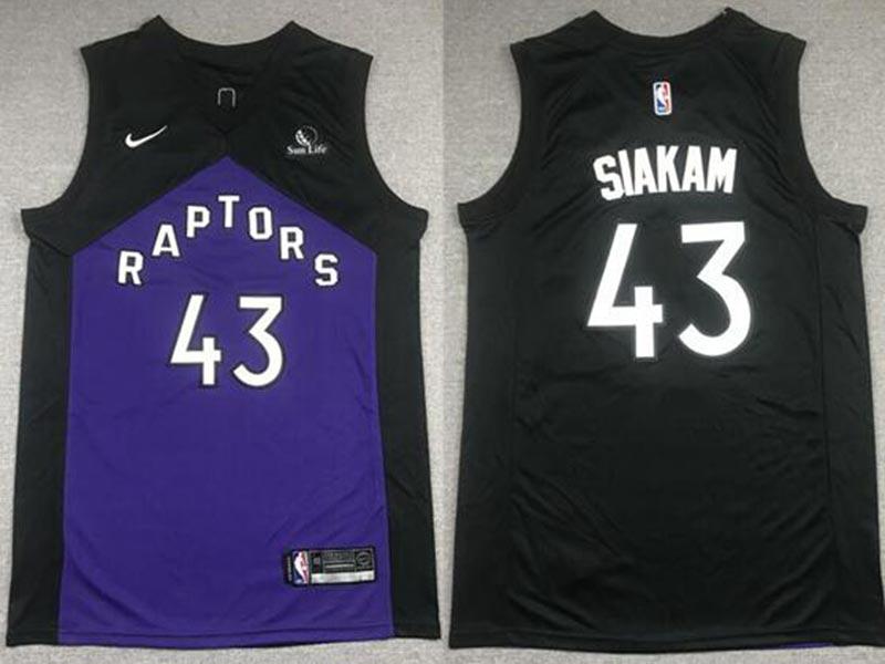 Men's Toronto Raptors #43 Pascal Siakam 2021 Purple and Black Earned Edition Nike Swingman Basketball Jersey