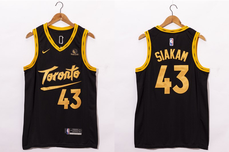 Men's Toronto Raptors #43 Pascal Siakam Black 2021 Nike City Edition Swingman Jersey With The Sponsor Logo