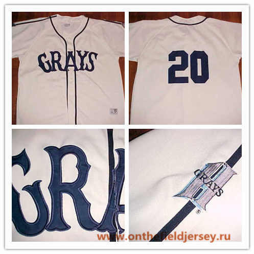 Men's The Movie USA Negro Leagues NLBM Homestead Grays #20 Josh Gibson Cream Stitched Baseball Jersey