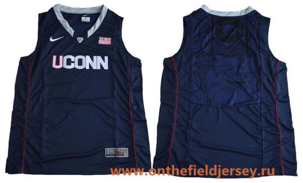 Men's Uconn Huskies Custom Nike College Basketball Jersey - Navy Blue