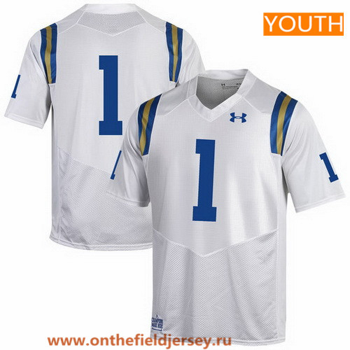 Youth UCLA Bruins Custom 2017 White Stitched Under Armour NCAA Jersey