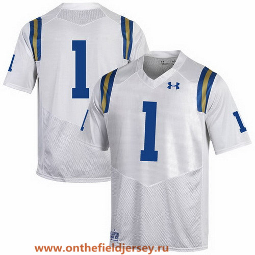 Men's UCLA Bruins Custom 2017 White Stitched Under Armour NCAA Jersey