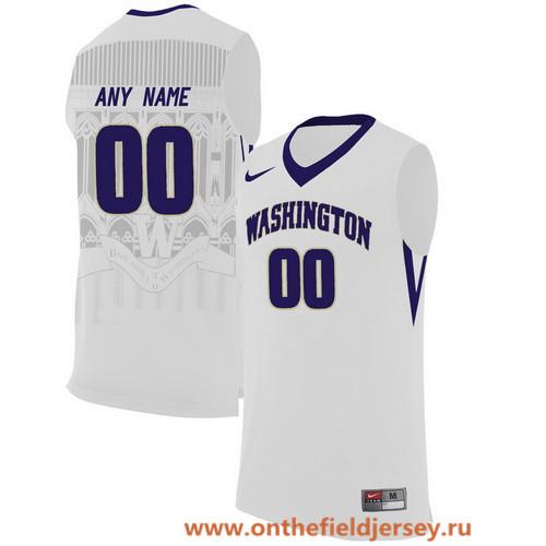 Men's Washington Huskies Custom Nike College Basketball Jersey - White