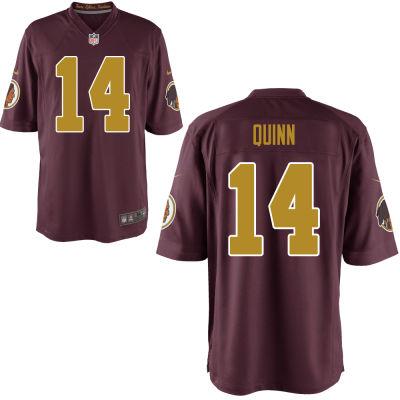 Men's Washington Redskins #14 Trey Quinn Red With Gold Alternate Stitched NFL Nike Game Jersey