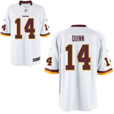 Men's Washington Redskins #14 Trey Quinn White Road Stitched NFL Nike Game Jersey