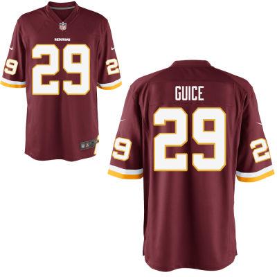 Men's Washington Redskins #29 Derrius Guice Burgundy Red Team Color Stitched NFL Nike Game Jersey