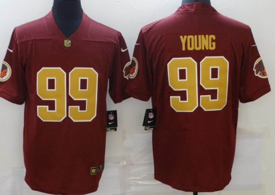 Men's Washington Redskins #99 Chase Young Red With Gold 2017 Vapor Untouchable Stitched NFL Nike Limited Jersey