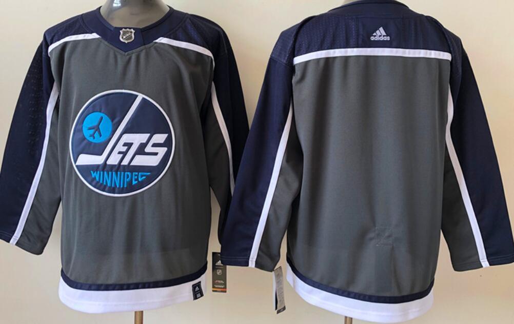Men's Winnipeg Jets Blank Black 2020-21 Reverse Retro Alternate Adidas Stitched NHL Jersey