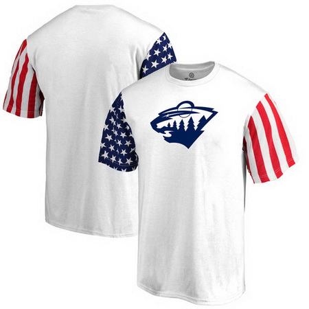 Minnesota Wild Fanatics Branded Stars & Stripes T-Shirt - White