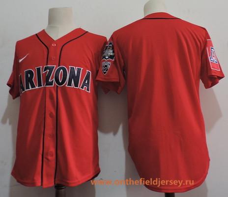 Men's Arizona Wildcats Blank Red College Baseball Nike Stitched NCAA Jersey
