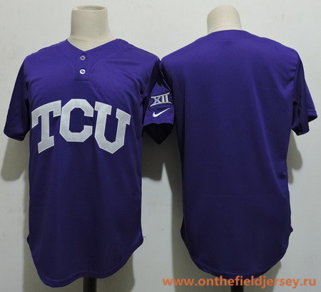 Men's TCU Horned Frogs Blank Purple College Baseball Stitched Nike NCAA Jersey