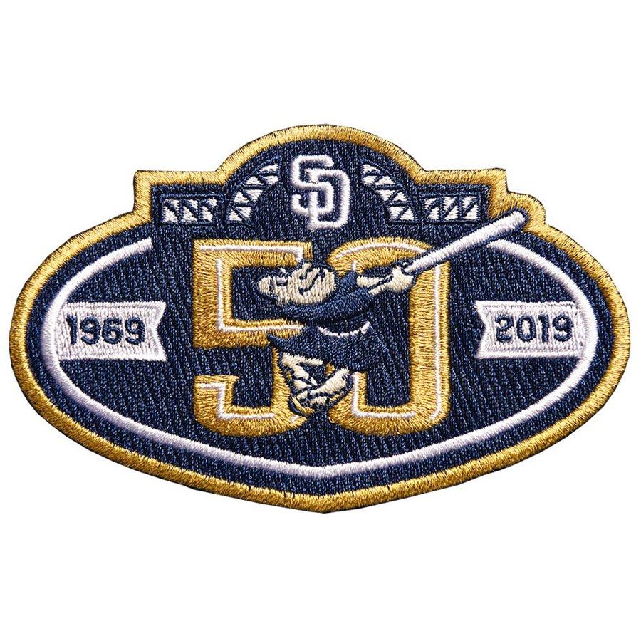 2019 San Diego Padres Navy Blue 50th Anniversary Patch