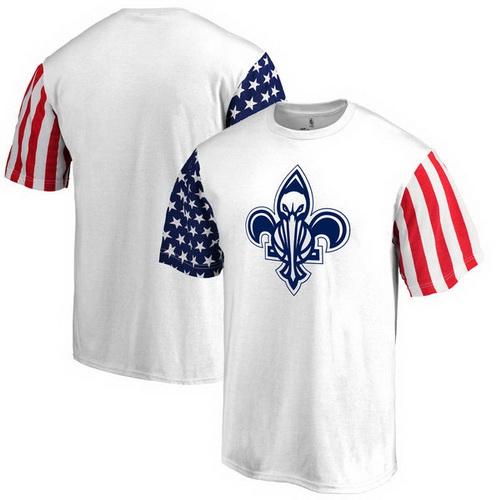 New Orleans Pelicans Fanatics Branded Stars & Stripes T-Shirt - White