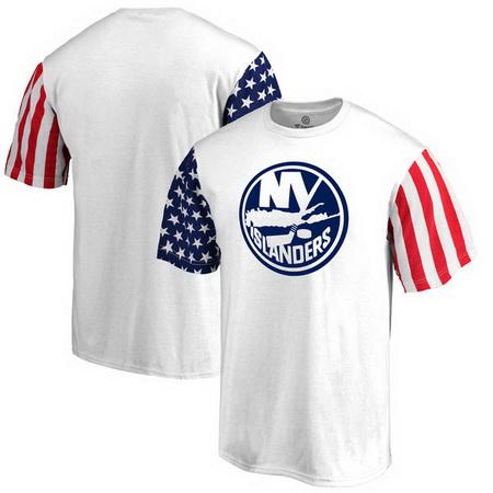 New York Islanders Fanatics Branded Stars & Stripes T-Shirt - White