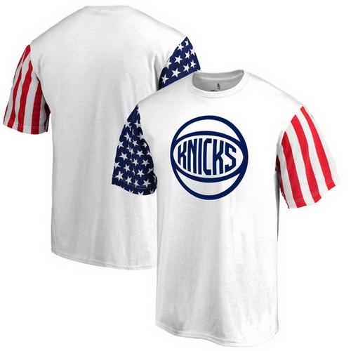 New York Knicks Fanatics Branded Stars & Stripes T-Shirt - White