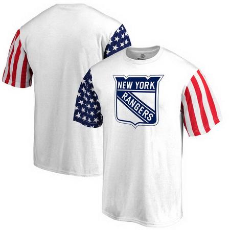 New York Rangers Fanatics Branded Stars & Stripes T-Shirt - White