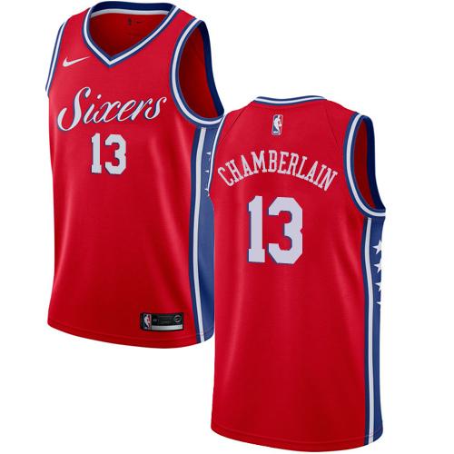Philadelphia 76ers #13 Wilt Chamberlain Red Nike NBA Men's Stitched Jersey