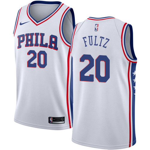 Philadelphia 76ers #20 Markelle Fultz White Nike NBA Men's Stitched Jersey