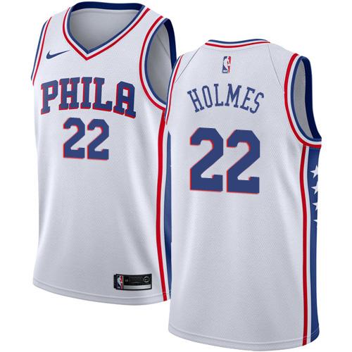 Philadelphia 76ers #22 Richaun Holmes White Nike NBA Men's Stitched Jersey
