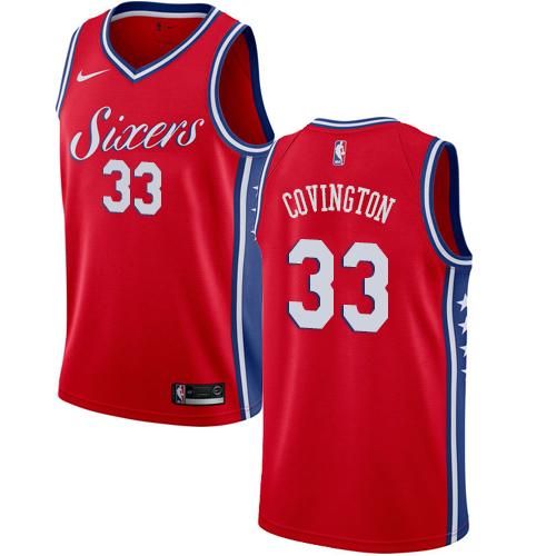 Philadelphia 76ers #33 Robert Covington Red Nike NBA Men's Stitched Jersey