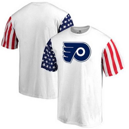 Philadelphia Flyers Fanatics Branded Stars & Stripes T-Shirt - White