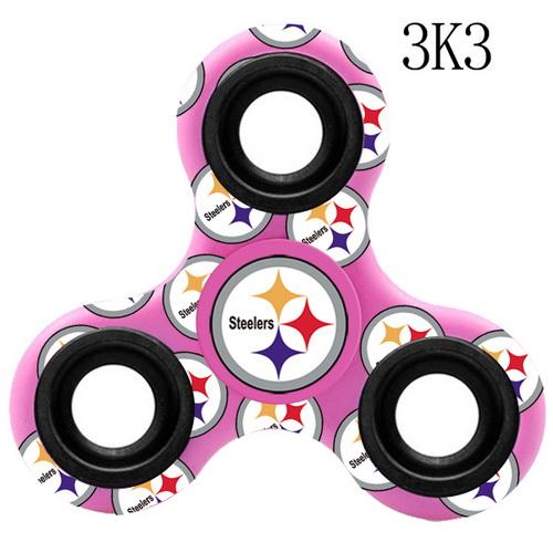 Pittsburgh Steelers Pink Logo Three-Way Fidget Spinner III -  3K3