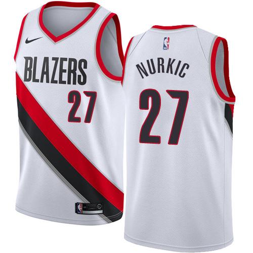 Portland Trail Blazers #27 Jusuf Nurkic White Nike NBA Men's Stitched Swingman Jersey