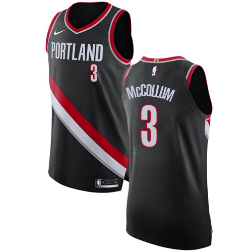 Portland Trail Blazers #3 C.J. McCollum Black Nike NBA Men's Stitched Swingman Jersey