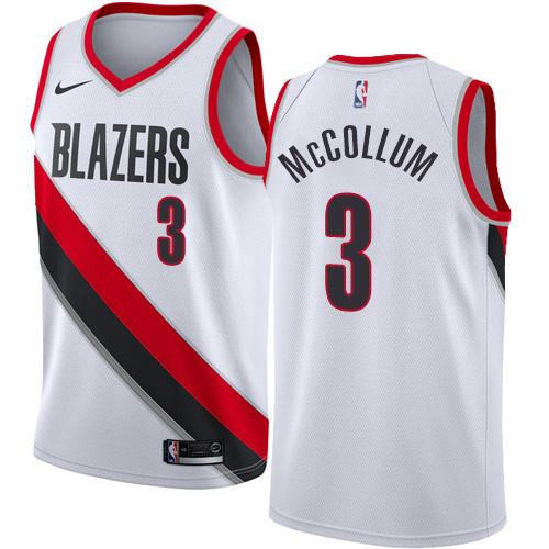 Portland Trail Blazers #3 C.J. McCollum White Nike NBA Men's Stitched Swingman Jersey