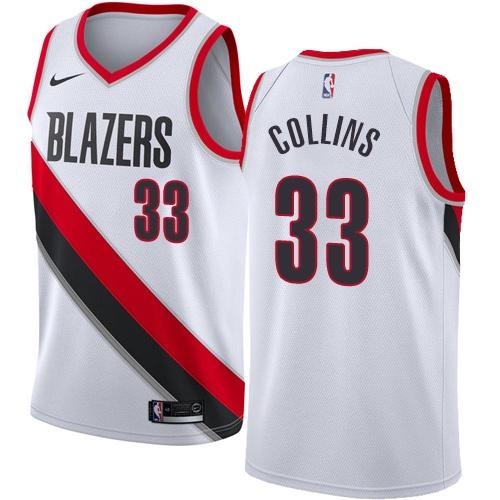Portland Trail Blazers #33 Zach Collins White Nike NBA Men's Stitched Swingman Jersey