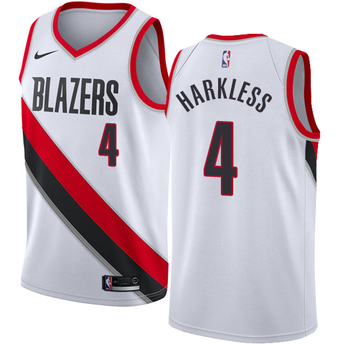 Portland Trail Blazers #4 Moe Harkless White Nike NBA Men's Stitched Swingman Jersey