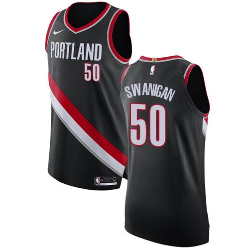 Portland Trail Blazers #50 Caleb Swanigan Black Nike NBA Men's Stitched Swingman Jersey